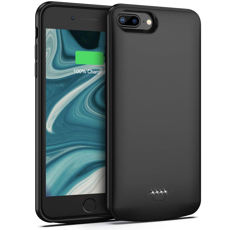 Battery Case for iPhone 7 Plus / 8 Plus / 6 Plus / 6s Plus, 5500mAh Portable Protective Charging Case Compatible with iPhone 7 Plus /8 Plus /6 Plus /6s Plus (5.5 inch) Rechargeable Extended Battery Lonlif