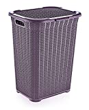 Superio Laundry Hamper, Knit Collection, Large, Purple