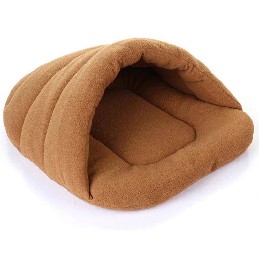 Roypet Soft Fleece with Bamboo Fiber Slipper Shape Pet Sleeping Bed in Popular Colors Medium 48 X 58cm