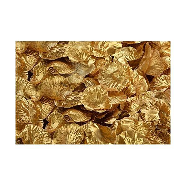 Calcifer100 Pack (About 10000 pcs) Silk Rose Petals Artificial Flower Petals for Wedding Decoration (19.Gold)