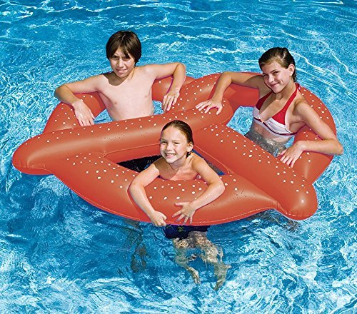 60 Water Sports Inflatable Swimming Pool 3-Person Giant Pretzel Float by Swim Central