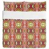 India Express Duvet Bed Set 3 Piece Set Duvet Cover - 2 Pillow Shams - Luxury Microfiber, Soft, Breathable