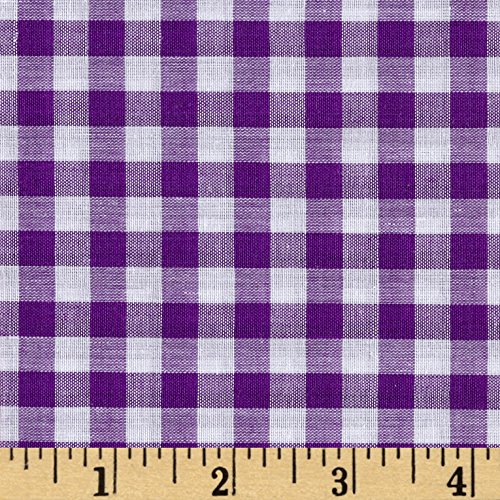 Richland Textiles Richcheck 60in Gingham Check 1/4in Purple Fabric by The Yard, Purple -