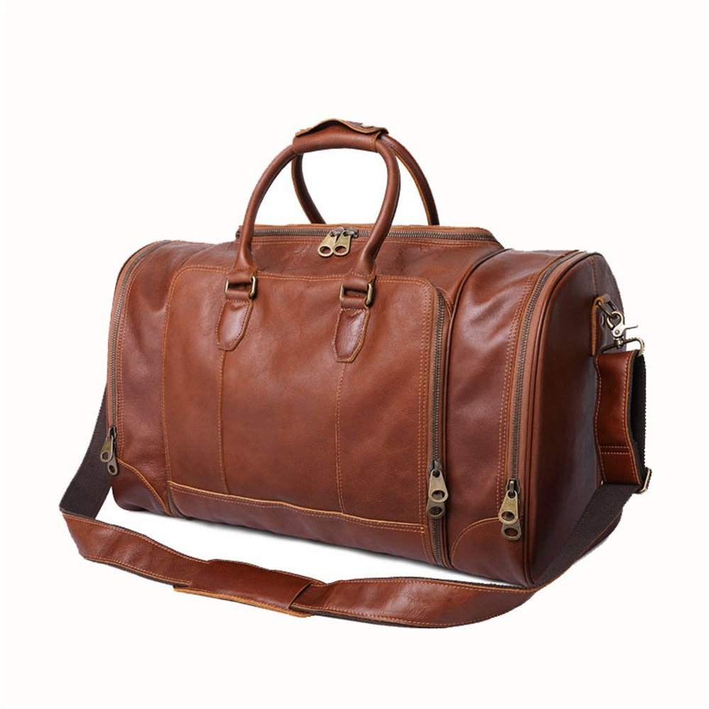 Amazon.com: Crystalzhong Mens Travel Bag Vintage Leather ...