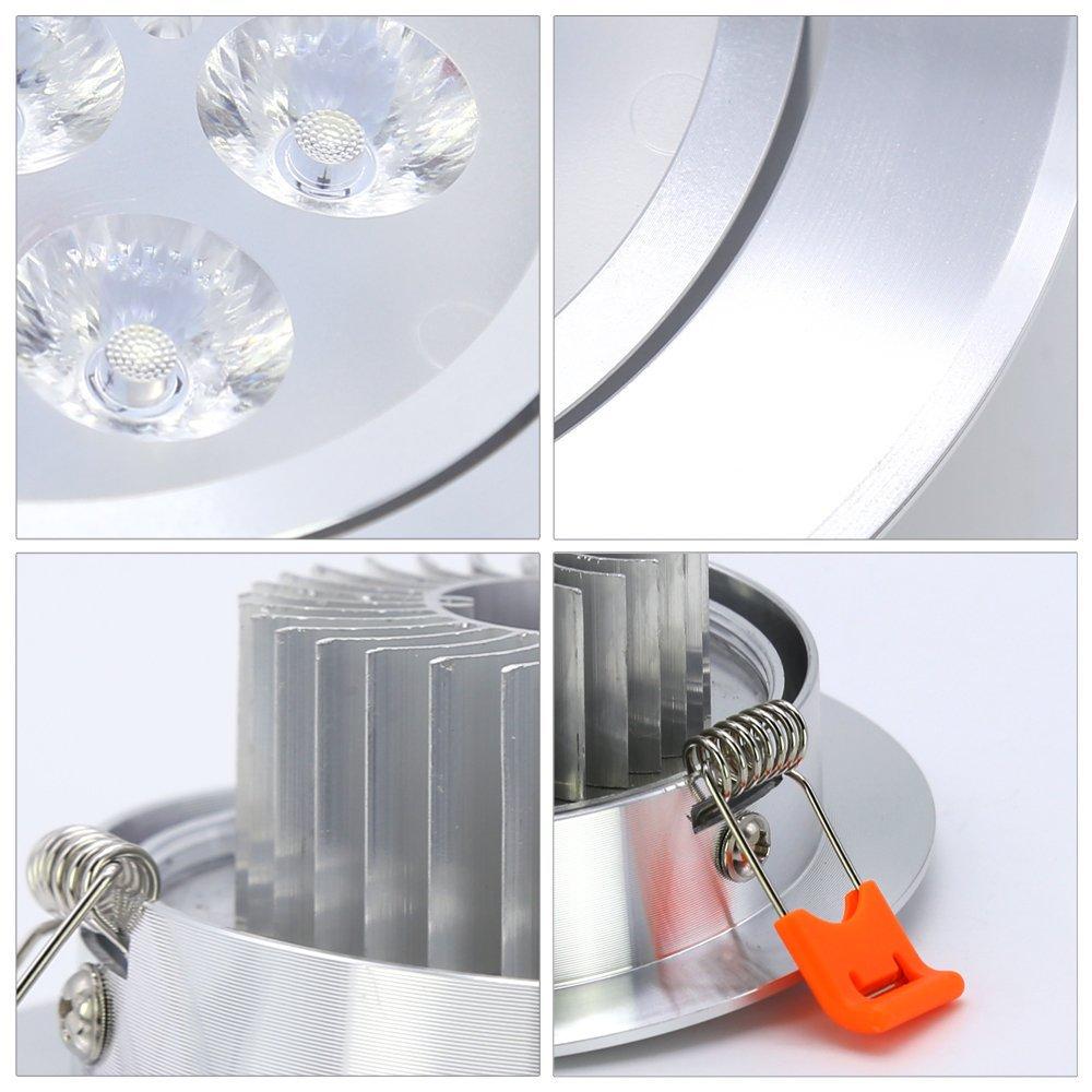 Hengda® 20X Luminarias de techo 3W para salas de estar Apto para baño Iluminación 210 lúmenes Proyector empotrable de techo LED blanco frío Luminaria ...