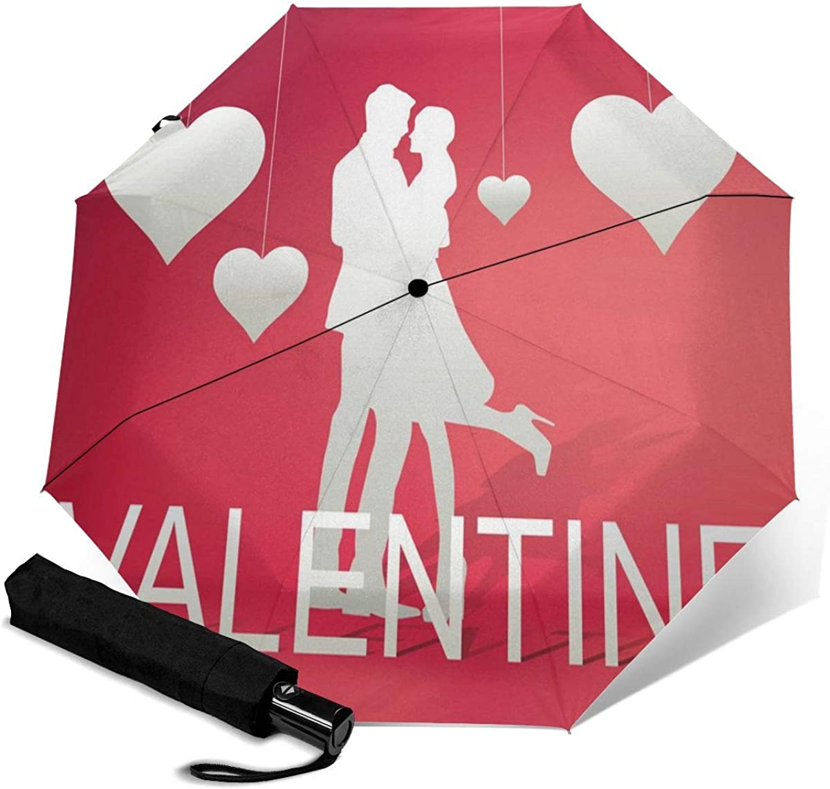 Image Compact Travel Umbrella Windproof Reinforced Canopy 8 Ribs Umbrella Auto Open And Close Button Customized
