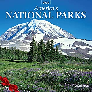 """Goldistock 2020 Large Wall Calendar -""""National Parks"""" - 12"""" x 24"""" (Open) - Thick & Sturdy Paper - Featuring Breathtaking Images of Our National Parks"""