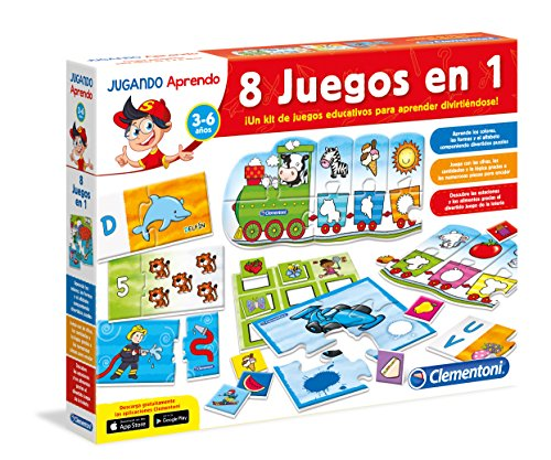 Clementoni Kit 8 Juegos En 1 Juego Educativo 65600 4 Amazon Es