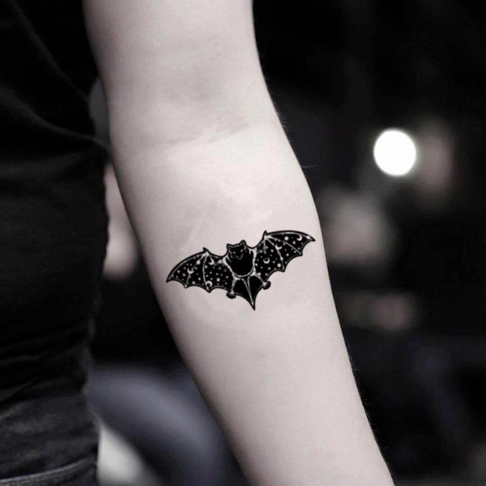 Tatuaje Temporal de Murciélago de la noche estrellada (2 Piezas ...