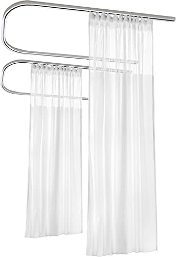 Macochico White Room Divider Curtains Privacy Cubicle Curtain