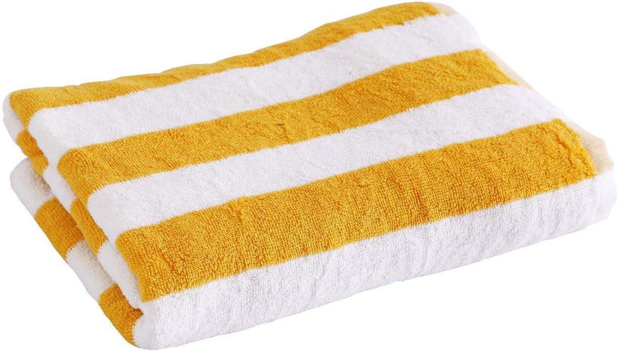76X152CM Indus Textiles 100/% Egyptian Cotton Cabana Stripes Large Beach Pool Towel Blue