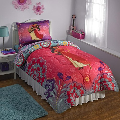 Disney Princess Elena of Avalor Flower Power Twin Reversible Comforter by Disney
