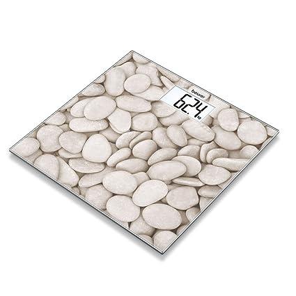 Beurer GS 203 - Piedra - Bascula de baño de vidrio, ultra plana, efecto
