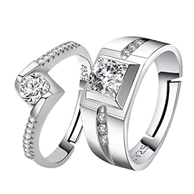 Buy Peora Platinum Plated Solitaire Anniversary Engagement Couple