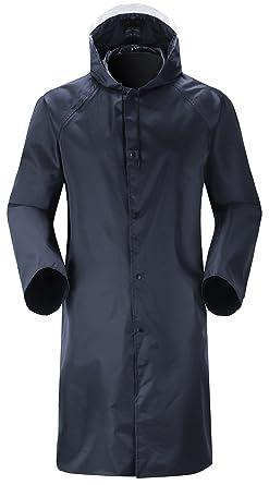 pre order hot new products cheapest Amazon.com: Cheering Long Mens Rain Coat Windbreaker Rain Jacket ...