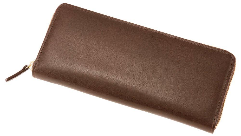 【キプリス/CYPRIS】シラサギレザー(Cirasagi Leather) ハニーセル長財布 ラウンドファスナー束入 8238 (正規取扱店) B072J46ZW3 チョコ チョコ -