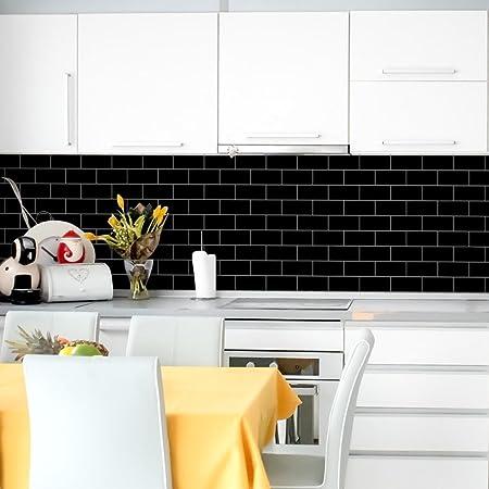 dress home kitchen tile sticker a roll self adhesive tile wall rh amazon co uk
