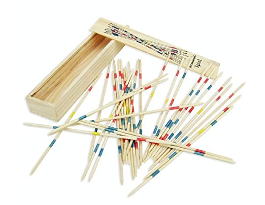 Lingduan Wooden Pick Up Sticks TraditionalGame Sticks Wooden Toys Adult Children Intelligence Multiplayer Toy Classic game, nostalgic game, intellectual game, fun family game