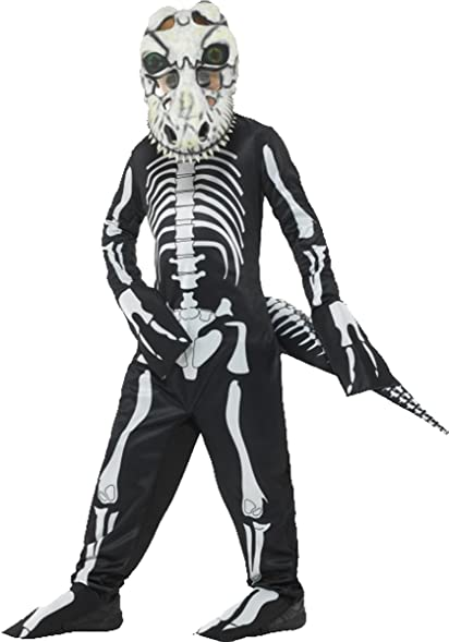 Deluxe T-rex Skeleton Costume Black Large Age 10-12  sc 1 st  Amazon.com & Amazon.com: Deluxe T-rex Skeleton Costume Black Large Age 10-12 ...