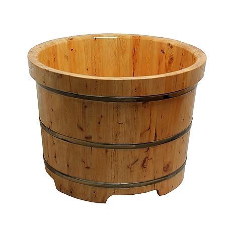 Charming Luxhomespace Free Standing Cedar Wood Bath Tub, Round Sauna Bathtub, Wooden  Sauna Tub Barrel