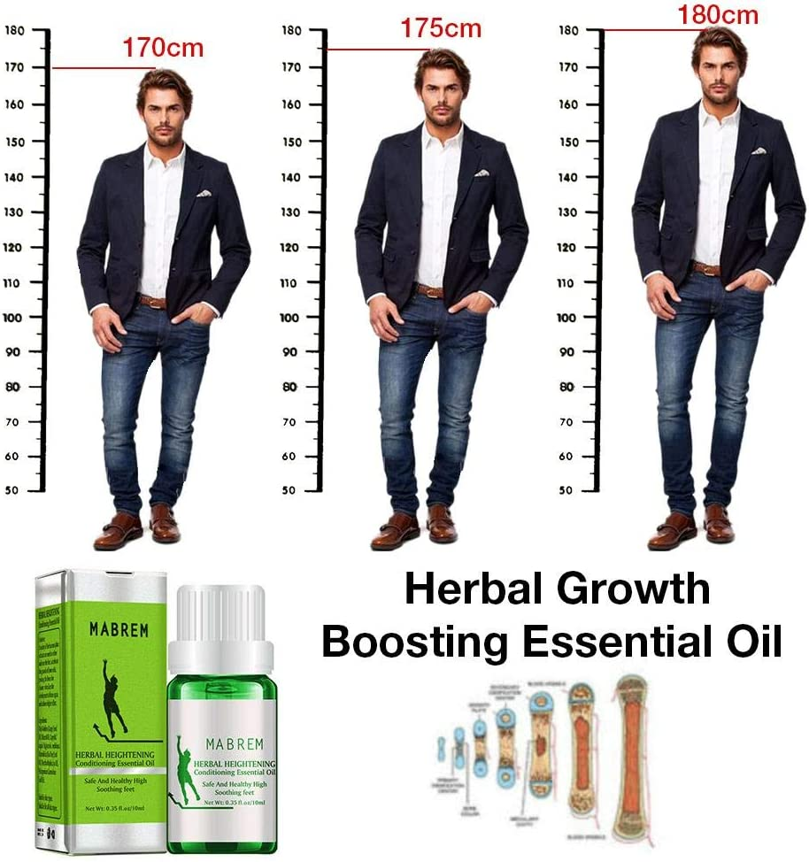 Make Your Higher Soothing Feet Essential Oil Herbal Heightening Growth Boosting Essential Oil Moisturizing Promote Cell Division and Bone Growth