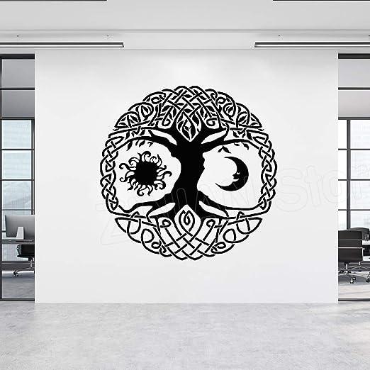 Luna y Sol Árbol de la Vida Pegatinas de Pared de Vinilo ...