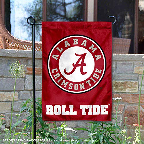 College Flags and Banners Co. Alabama Crimson Tide Circle Logo Garden Flag]()