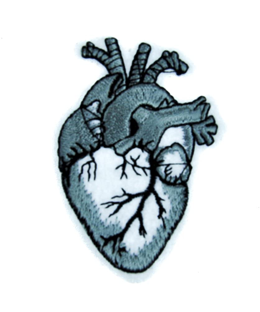 Human Anatomical Heart Patch Iron on Applique Alternative Clothing Medical Oddities