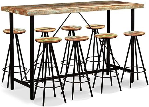 UnfadeMemory Mesa Alta y Taburetes de Bar o Restaurante,Conjunto ...