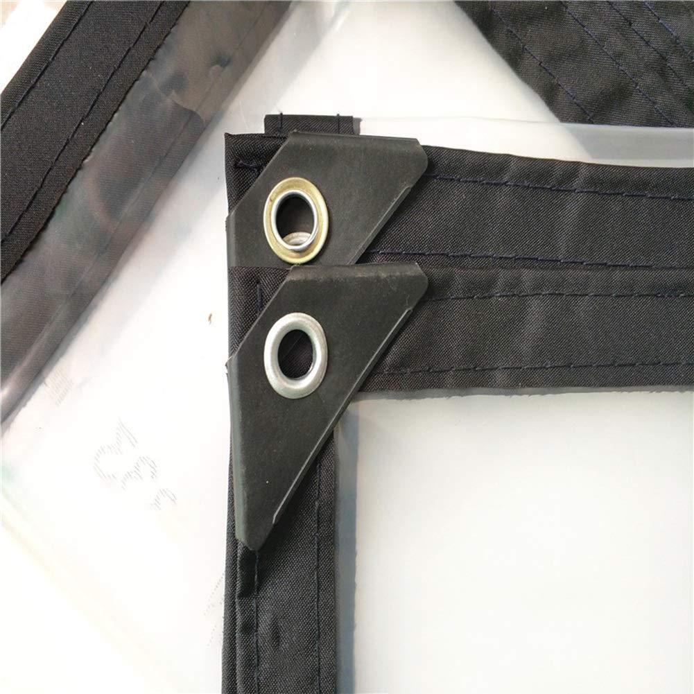 Trasparente Impermeabile Tarpaulin Impermeabile 0.12mm Plastica Trasparente Impermeabile Polietilene Esterno Balcone Finestra Sigillatura Parasole Multi-Dimensione Opzionale ( dimensioni   3x7m )