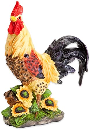 Rooster Statue Garden Ornament Collectible Decor Figurine for Patio Yard
