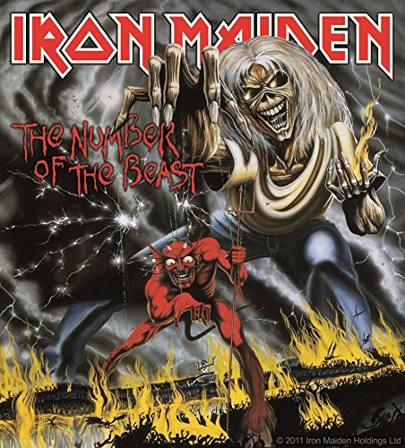 Sticker Iron Maiden Number Of The Beast Album Cover Art Metal Music Band Decal