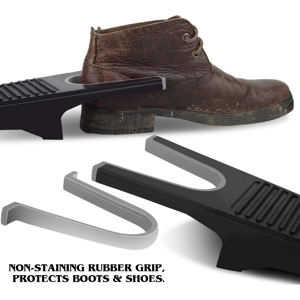 No Bend Shoe Remover 2 Pack Heavy Duty Boot Jack with Non-Staining Rubber Grip Boot Puller One Size Fits All