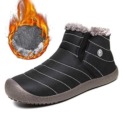 04b06a106edfe6 SITAILE Herren Schneestiefel Outdoor Boots Winter Kurzschaft Stiefel Warm  Gefütterte Winterschuhe
