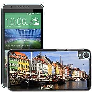 Etui Housse Coque de Protection Cover Rigide pour // M00152891 Dinamarca Copenhague Barcos Puerto // HTC Desire 820