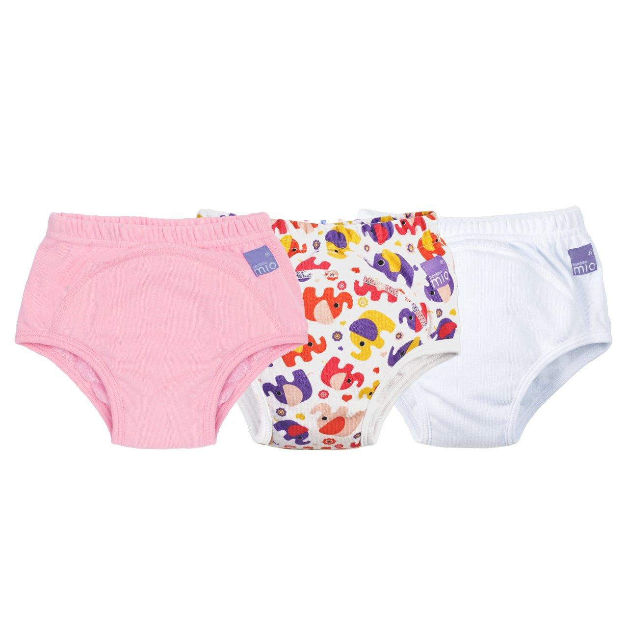 Bambino Mio - Braga de aprendizaje, Mixed Girl, Pink Elephant, 2 - 3 años , pack de 3 unidades 3TPG 2-3 MX