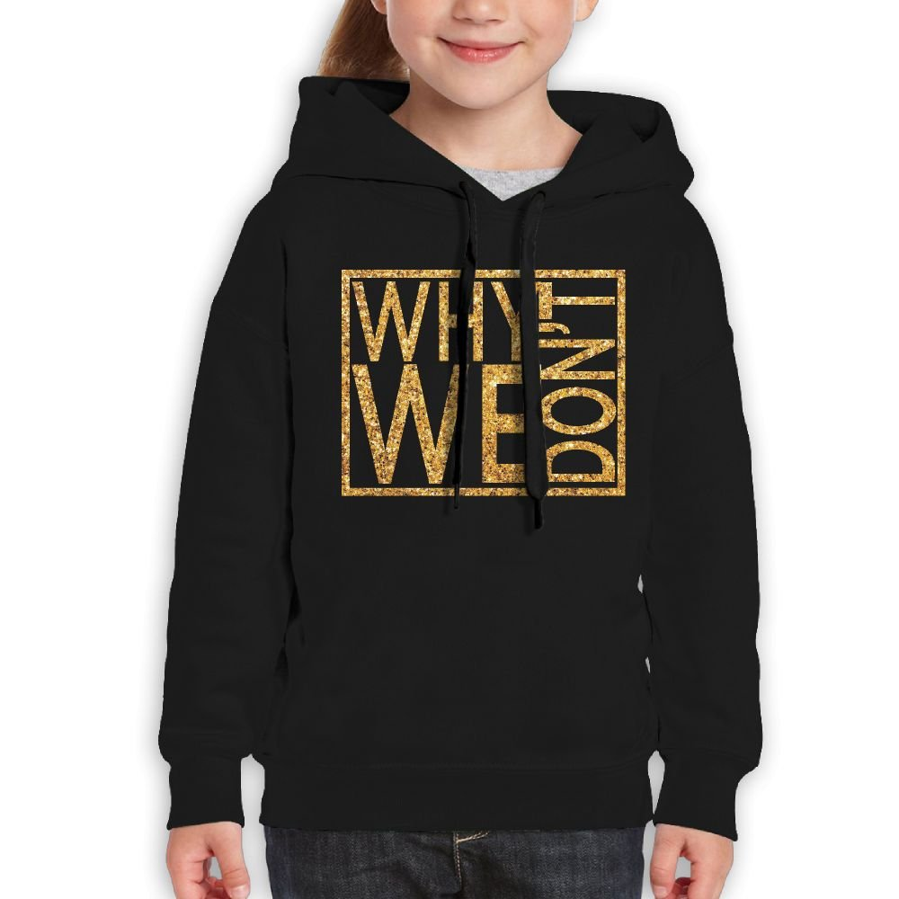 Katie P. Hunt Why Don't We Personalized Young Hoodie Activities Sweatshirt Black