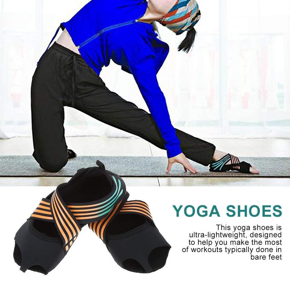 Amazon.com: Wbestexercises Non-Slip Pilates Barre Yoga Shoes ...