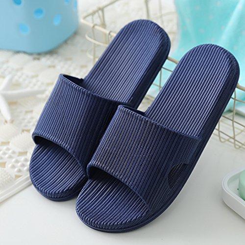 DogHaccd Zapatillas,Los cuartos de baño son frescos en verano sandalias zapatillas mujer quedarse en casa durante el verano y los baños de las parejas masculinas, encantadores interiores cool zapatill Lan1
