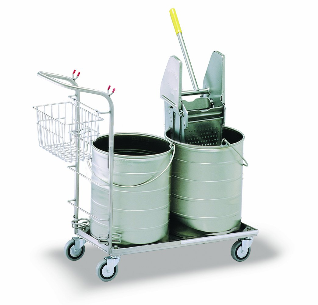 Royce Rolls Stainless Steel Round Double Bucket Mopping Unit - #5310