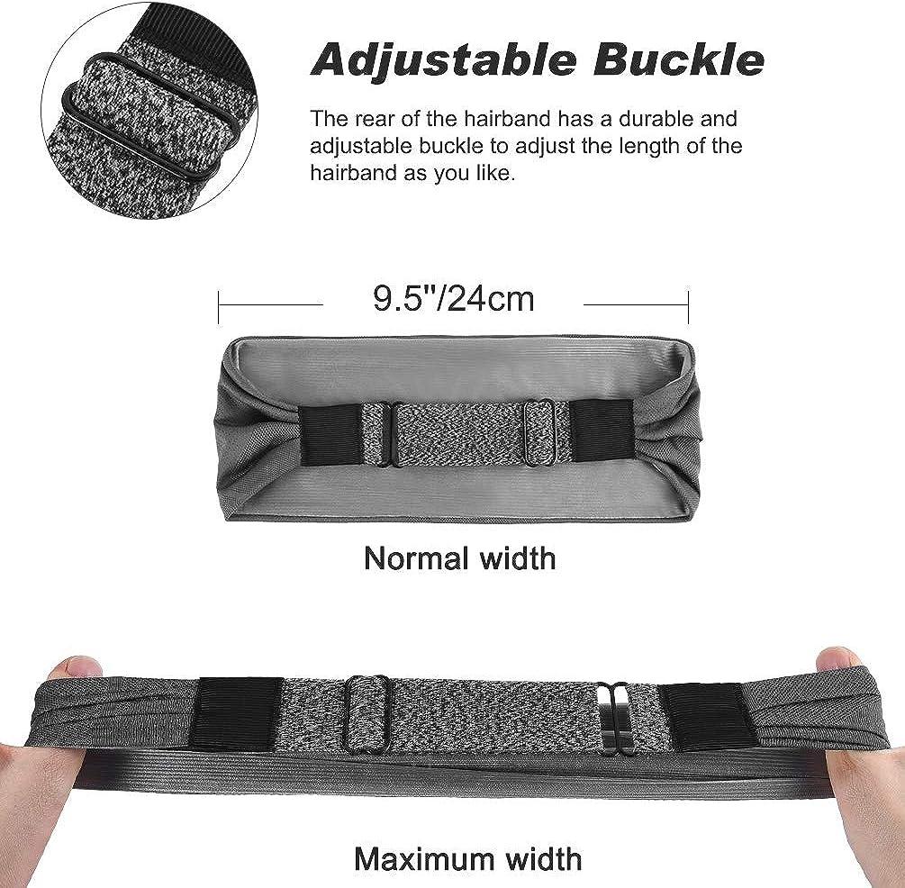 3 Pack Sweatbands Sports Headband Athletic Headbands for Running Cycling Yoga Basketball Elastic VBIGER Workout Headbands for Women