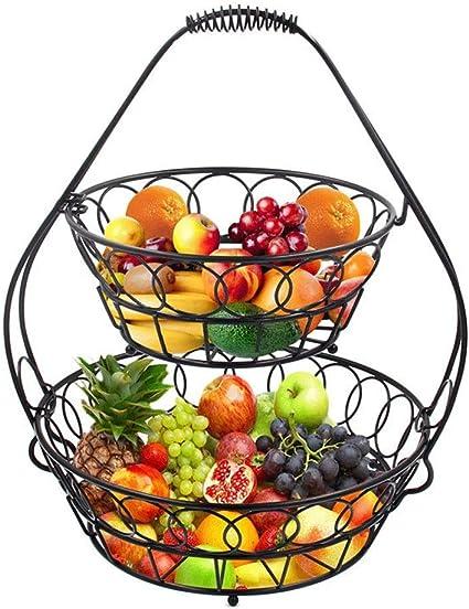 Arte Ron Doble Canasta De Frutas Cocina Canasta De ...
