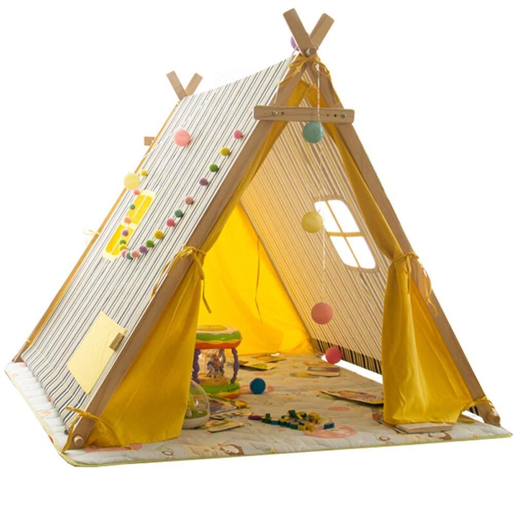 KLDYJA 夏用 蚊防止 子供部屋 木製テント 大型 屋内 子供 大人 テント ホーム 調節可能 幅テント (長さ4.26フィート x 幅3.93フィート x 高さ4.10フィート) B07PXM86BZ