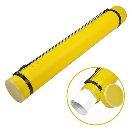 Storage & Media Accessories Plastic Storage Tube Yellow Documents Blueprints Artwork Hard Expandable Carryin