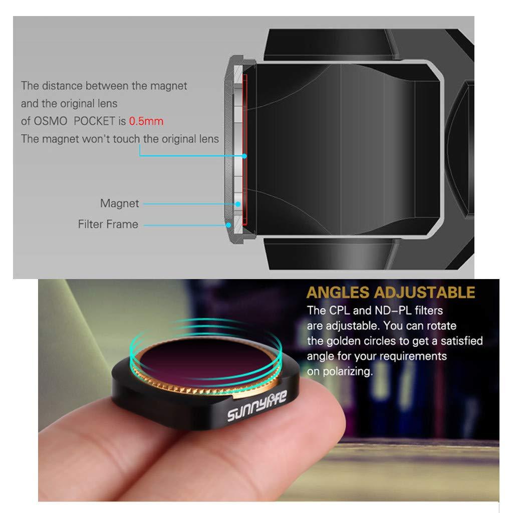 Toys 5PCS ND4-PL ND8-PL ND16-PL ND32-PL ND64-PL Lens Filters for DJI OSMO Pocket