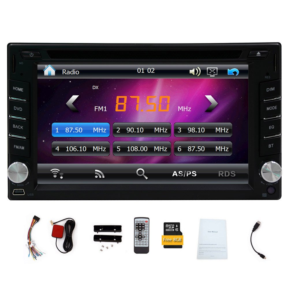 New Version ! 800MHZ CPU !!! GPS Navigation Car Radio 6.2 Inch Car DVD Player Touch Screen Stereo Bluetooth Autoradio In Dash Headunit Car Video Player by EinCar (Image #1)
