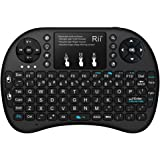 (Backlit version) Rii i8+ 2.4GHz Wireless Mini Handheld Remote Keyboard with Touchpad for PC,Raspberry Pi 2/3, Android TV Box,Windows 7 8 10(US Layout)