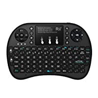 ( Backlit Release)Rii i8+ 2.4GHz Wireless Mini Handheld Remote Keyboard with Touchpad for PC,Raspberry Pi 2/3, Android TV Box ,XBMC,Windows 7 8 10(US Layout)