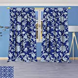 Best Eclipse Home Fashion Thermal Insulated Blackout Curtains Royal Blues - Design Print Grommet top Thermal Insulated Classic Middle Review