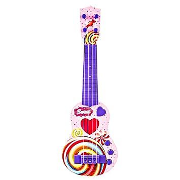 Foxom Guitarra Electrica Niños - 4 Cuerdas Infantil Rock Guitarra Juguetes con Luz - Instrumento Musical para Niño y Niña de 3 Años +: Amazon.es: Juguetes y ...